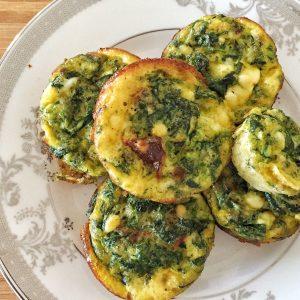 Make ahead egg cups -best diabetic breakfast