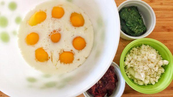 Pesto Egg Cups Diabetes Breakfast